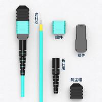 三必(EZOPTICS) 8芯mpo-mpo光纤跳线MTP OM3万兆多模跳纤40G/100G光纤线 MPO-MPO8芯 OM3万兆-1M