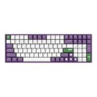 IQUNIX F96 100键 有线机械键盘 Joker Cherry红轴 无光