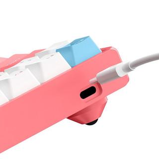 IQUNIX F96 100键 双模无线机械键盘 白桃奶昔 Cherry红轴 RGB