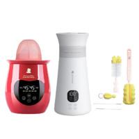 小白熊 HL-0961调奶器+HL-5005暖奶器+奶瓶刷组合套装