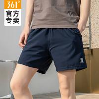 361 运动短裤男2021夏季新款薄款休闲透气五分裤361度男士舒适裤子 基础黑