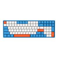 IQUNIX F96 100键 有线机械键盘 天空城 Cherry红轴 无光