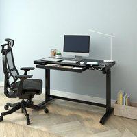 Loctek 乐歌 E5系列 电动升降桌 黑色桌腿+黑色玻璃桌面款
