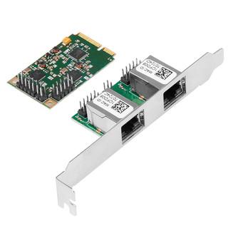 魔羯 MOGE MC4249 Mini PCIe双电口网卡千兆以太网网络适配器RTL芯片 台式机miniPCIE有线双口网卡