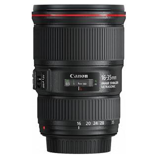 Canon 佳能 EF 16-35mm F4.0L IS USM 广角变焦镜头 黑色 佳能EF卡口 77mm