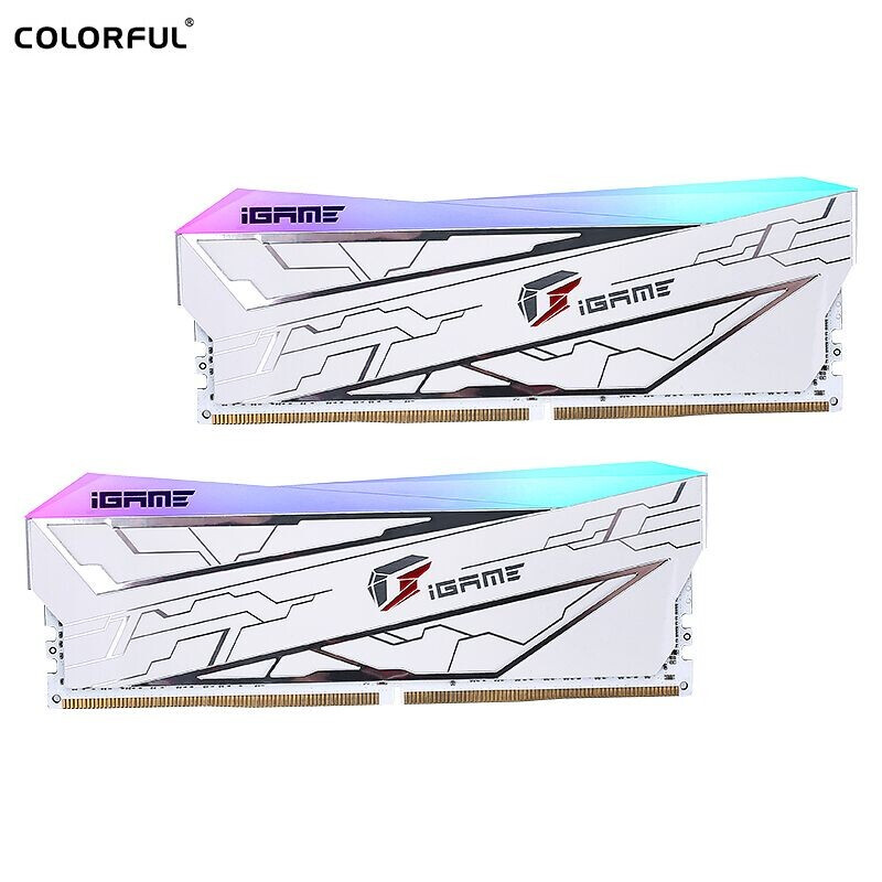 COLORFUL 七彩虹 iGame Vulcan Frozen系列 DDR4 3600MHz 台式机内存条 16GB(8GBx'2)
