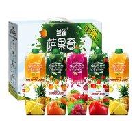 88VIP:萨果奇阳光纯果汁年货礼盒装(菠萝*2+苹果*1+橙汁*1+混合*1)