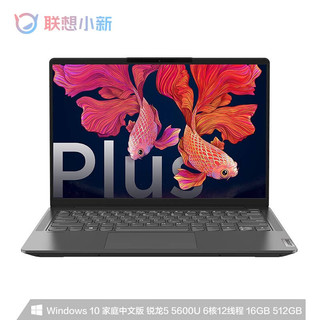 Lenovo 联想  小新Air14 Plus 2021款 锐龙版 14英寸笔记本电脑(R5-5600U、16GB、512GB、MX450、2.2K、100%sRGB)