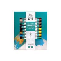 WINSOR&NEWTON 温莎牛顿 手绘墙绘纺织颜料 画家专用丙烯颜料 24色套装