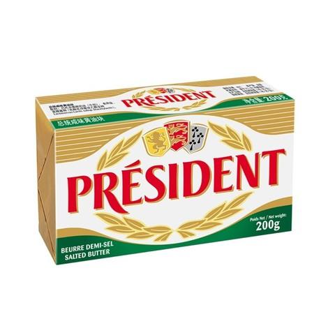 PLUS会员:President 总统 总统(President)发酵型动脂黄油 咸味200g