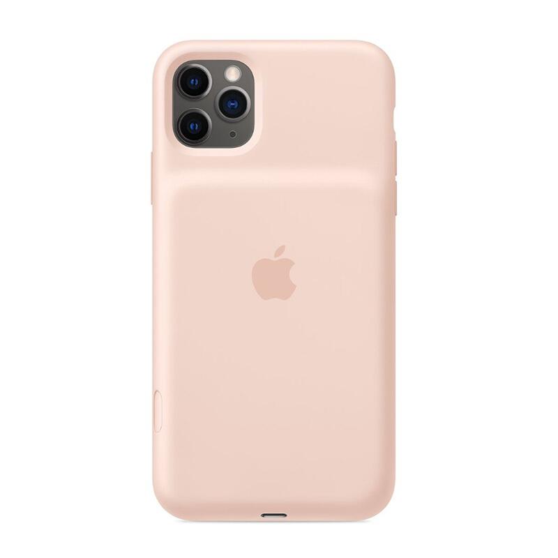 Apple 苹果 iPhone 11 Pro Max 原装智能电池壳 保护壳 支持无线充电 - 粉砂色