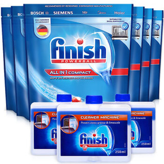 finish 亮碟 小型洗碗机专用洗涤块(多效合一洗碗块*6+清洁剂*3)