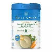 BELLAMY'S 贝拉米 胡萝卜菠菜大米粉 225g