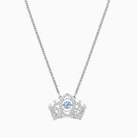 SWAROVSKI 施华洛世奇 BEE A QUEEN系列 女王皇冠造型项链锁骨链