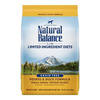 临期品:Natural Balance 天衡宝 鸭薯配方成犬粮 11.8kg