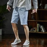 Tonlion 唐狮 623210082401 男士牛仔短裤