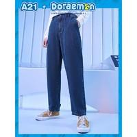 A21 哆啦A梦联名款 F403126008 男士牛仔裤