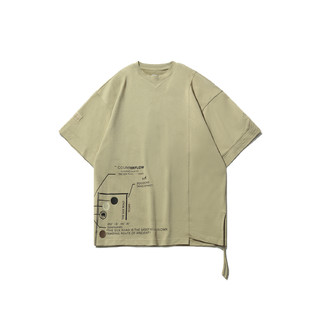 LI-NING 李宁 李宁CF溯系列敦煌博物馆联名款T恤男士2021夏新款休闲宽松运动服