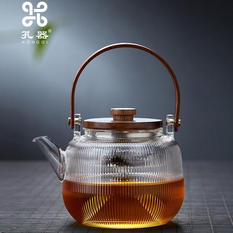 木盖提梁壶玻璃煮茶壶800ml
