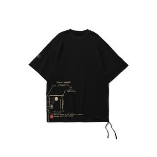 LI-NING 李宁 CF溯系列镜敦煌博物馆2021男装T恤男子短袖文化衫AHSR709华晨宇同款