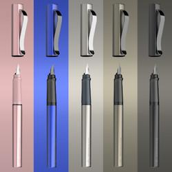 Schneider 施耐德 BaseMetal贝斯麦 钢笔 F尖 含吸墨器 笔套 笔盒