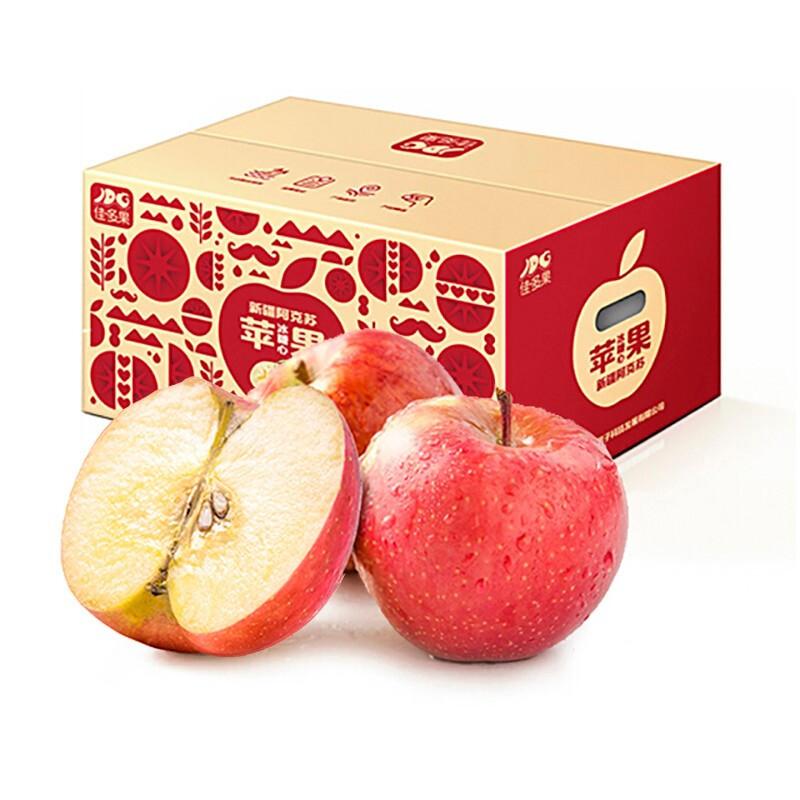 京觅 佳多果 阿克苏苹果 果径85mm-90mm 净重7kg 约20-22粒