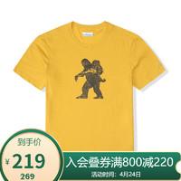 Columbia 哥伦比亚 Columbia哥伦比亚户外21春夏新品男子针织短袖个性印花T恤AE0409 790 M