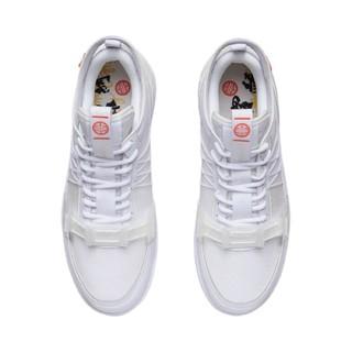 LI-NING 李宁 溯系列 隍城烟云 男子休闲运动鞋 AGCR167-1 白色 45
