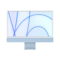 Apple 苹果 iMac 24英寸 一体机 蓝色 国行(M1、核芯显卡、8GB、256GB SSD、4.5K、MJV93CH/A)