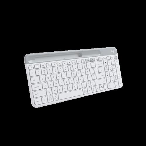 logitech 罗技 Logitech)K580无线蓝牙双模键盘办公超薄便携笔记本电脑手机平板ipad键盘 K580 白