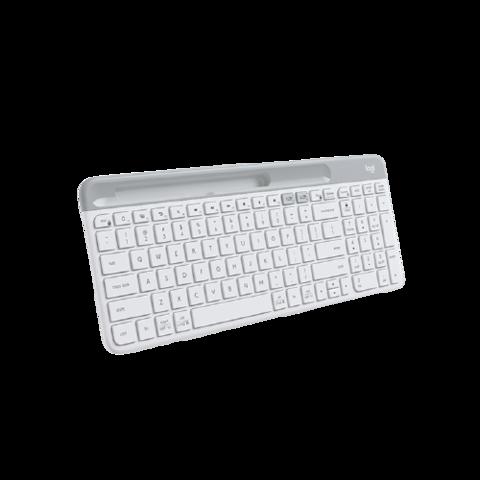 logitech 罗技 Logitech)K580 键盘 无线蓝牙键盘 办公键盘 便携超薄键盘 笔记本键盘 平板键盘 K580白色