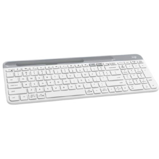logitech 罗技 K580 87键 双模无线薄膜键盘 白色 无光