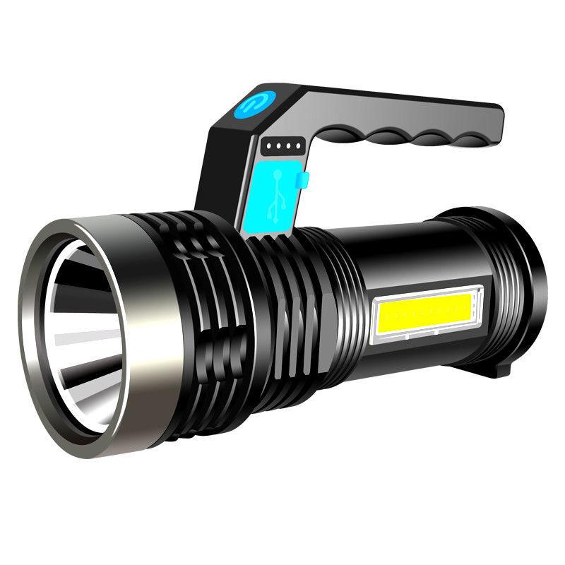 MOTIE 魔铁 魔铁MOTIE 强光手电筒 远射USB充电式家用小型应急照明灯 户外便携LED手提探照灯带电显侧灯 ST10强光手提灯-USB线充