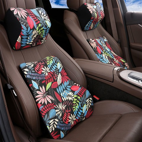 汽车腰靠护腰靠垫靠背座椅腰枕车用记忆棉靠车载腰垫透气夏季头枕