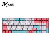 限地区:ROYAL KLUDGE RK100 三模机械键盘 白光版(白色红轴、PBT、100键)