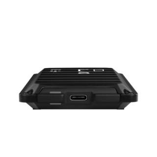 Western Digital 西部数据 WDBA3S0040BBK USB3.2移动固态硬盘 4TB USB