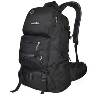 力开力朗 大容量户外运动休闲登山包双肩包 黑色 069T