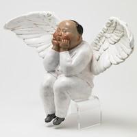 XQ 稀奇 稀奇艺术 瞿广慈《节庆天使》23X12X36cm 雕塑 玻璃钢烤漆