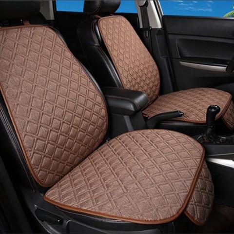 GREAT LIFE  汽车坐垫四季通用冰丝座垫套适用于大众君越速腾桑塔纳君威宝来朗逸探歌凯美瑞五座  摩卡棕