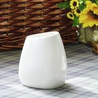 LANYU 蓝玉 白色简约陶瓷花瓶 小号