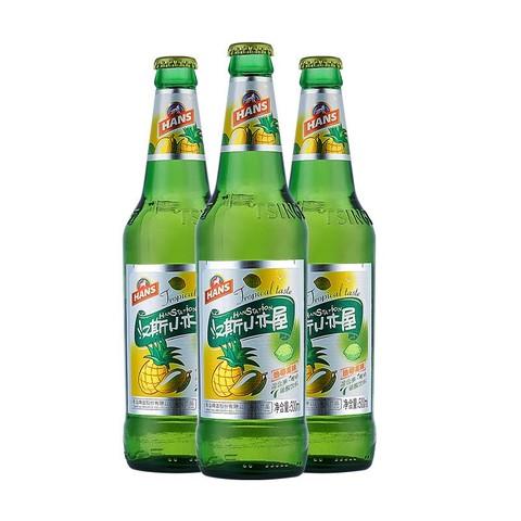 汉斯小木屋 菠萝啤瓶装500ml*12瓶混合果啤