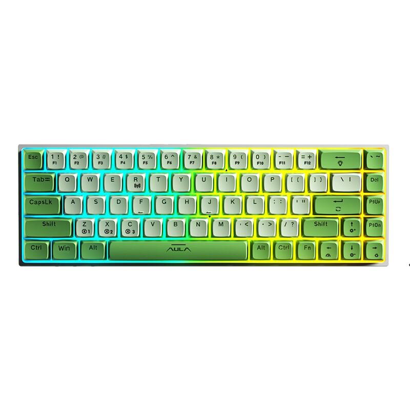 AULA 狼蛛 F3068 魔幻森林 双模蓝牙机械键盘 68键