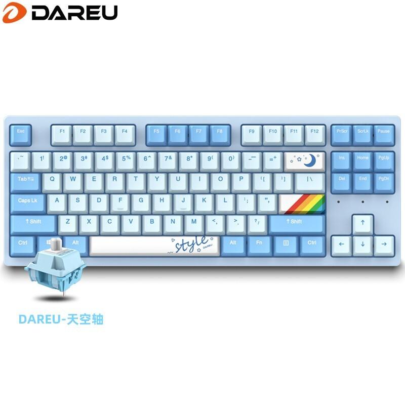 Dareu 达尔优 A87 热插拔机械键盘 天空轴 天空版