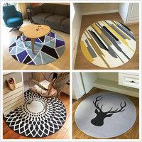 HONGLIDA 鸿荔達  简约北欧圆形地毯 80cm 多款可选