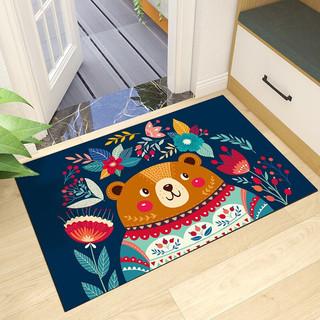 JRB 嘉瑞宝 时尚卡通地垫门口厨房浴室卫生间吸水防滑门垫地毯家用脚垫40*60cm 小胖熊