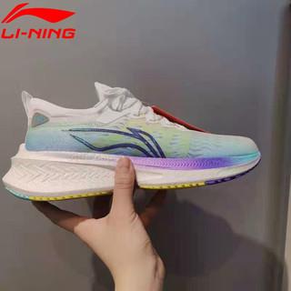 LI-NING 李宁 李宁跑步鞋男鞋2021夏季新款飞电Discovery䨻男子一体织减震回弹支撑竞速跑鞋透气运动鞋