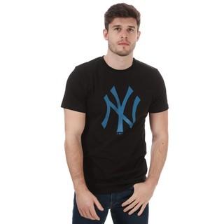 男士Team Logo NYY 圆领黑色短袖T恤