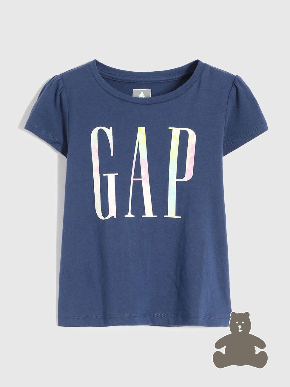 Gap 盖璞 幼儿|布莱纳系列 玩童之选 徽标LOGO纯棉短袖T恤