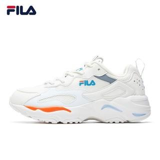 FILA 斐乐 FILA斐乐女鞋跑步鞋女2021夏季新款女子老爹鞋网面透气休闲运动鞋学生小白鞋耐磨厚底旅游慢跑