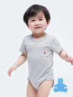 Gap 盖璞 布莱纳系列 小熊刺绣短袖连体衣